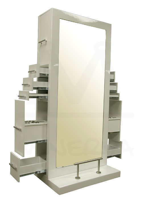 Black Salon Stations | sided styling station in alpine white the genesis styling station ...