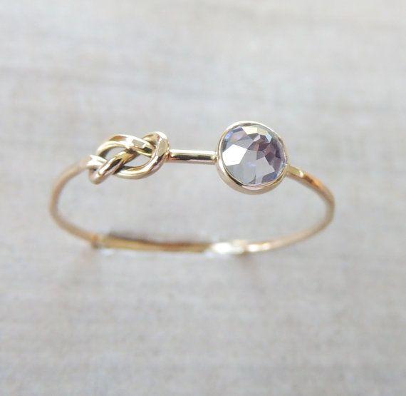 Tanzanite bague en or infini noeud anneau anneau de par Luxuring