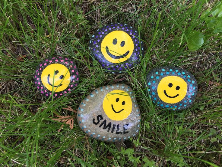 Smile Hand Painted Rocks By Caroline The Kindness Rocks