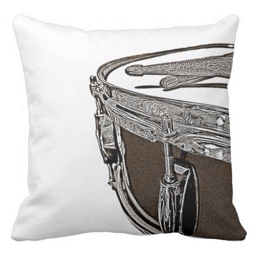 Drummer Pillow Drum Cushion Rock Band Decor Art