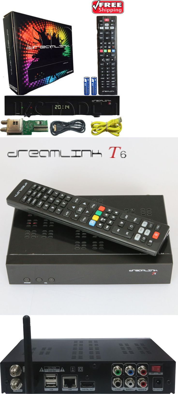 Satellite TV Receivers: New Dreamlink Original T6 Hd Satellite Receiver + Iptv Kodi W Dl-300 + Hdmi -> BUY IT NOW ONLY: $170 on eBay!
