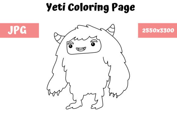 Coloring Page For Kids Yeti Graphic By Mybeautifulfiles Creative Fabrica