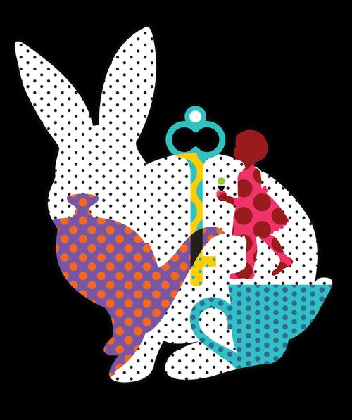 Alice in Wonderland graphic print