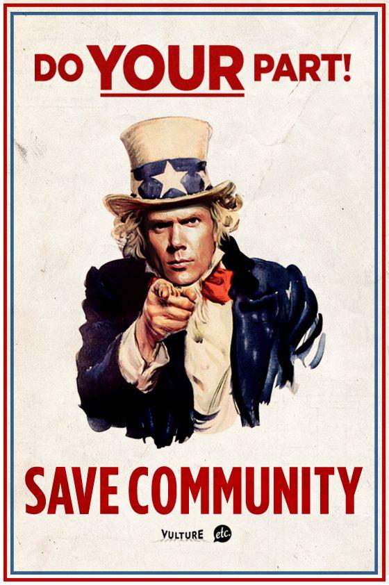 Community... a truly beautiful thing.  Please, NBC, use your head. #savecommunity #sixseasonsandamovie