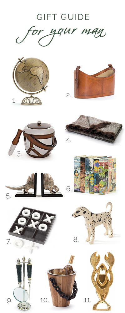 Unique and stylish eclectic collection of gifts for men. #giftideas #giftsformen