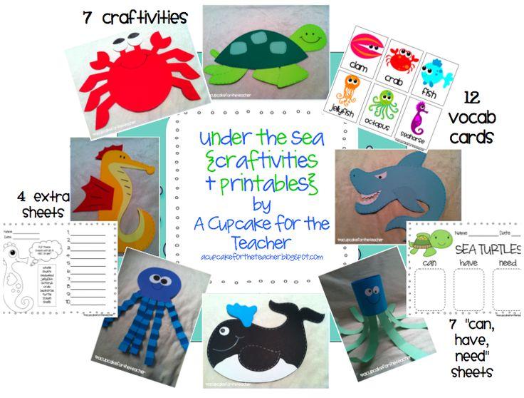 LOVE Mrs. Cupcake's sealife craftivities!