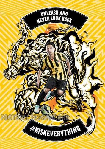 Malaysia 2014 2015 2016 Nike Home and Away Soccer Jersey, Football Kit, Shirt