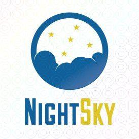 Exclusive Customizable Clouds  Logo For Sale: Night Sky | StockLogos.com