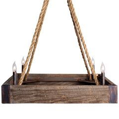 Lowcountry Originals Barnwood Square Chandelier LCO063