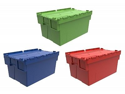 56 Litre Super Strong Attached Lid Container - Lidded Plastic Storage Box