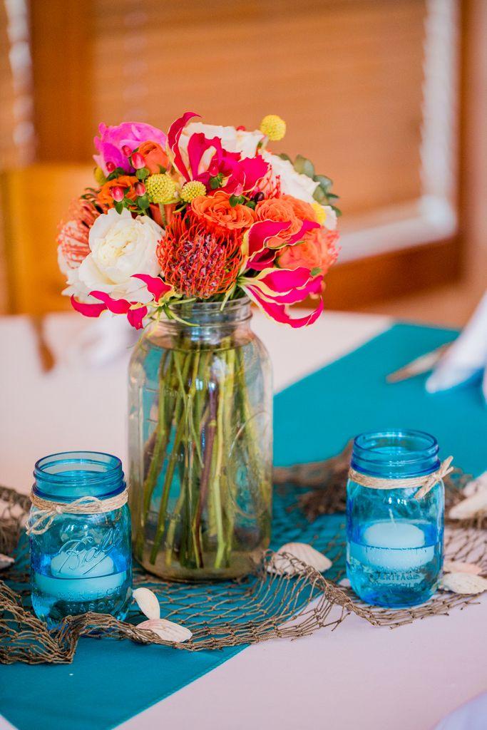 1cd7f92f079f A Very Beachy Blue Coral Wedding In North Carolina | Blue Wedding Ideas |  Pinterest | Hola