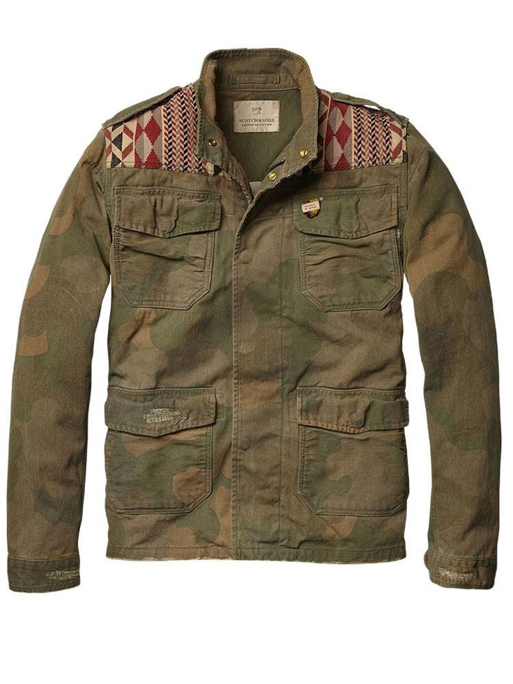 Military shirt jacket with patched shoulder yoke - Jackets - Official Scotch & Soda Online Fashion & Apparel Shops