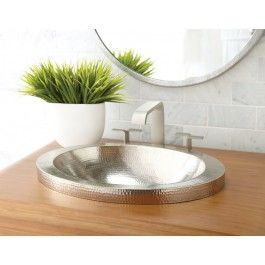 Hibiscus Copper Bath Sink In Brushed Nickel By Native Trails   Traditional    Bathroom Sinks   San Luis Obispo   Native Trails