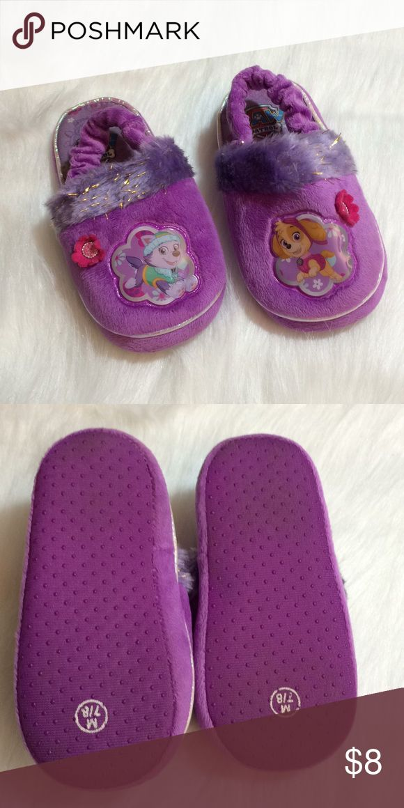 Paw Patrol Purple Slippers Paw Patrol Purple Slippers. Excellent Used Condition. Size M 7/8 Paw Patrol Shoes Slippers