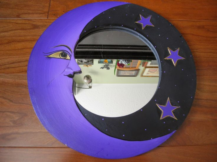 Repainted the face of this moon mirror.