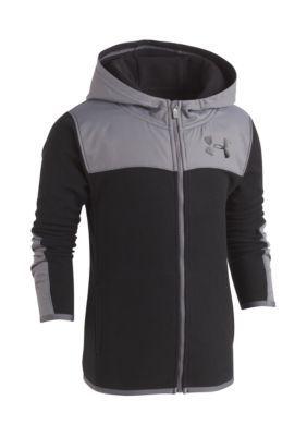 Under Armour Cozy Full Zip Hoodie - Black/Stealth Gray - 0 - 3 Months