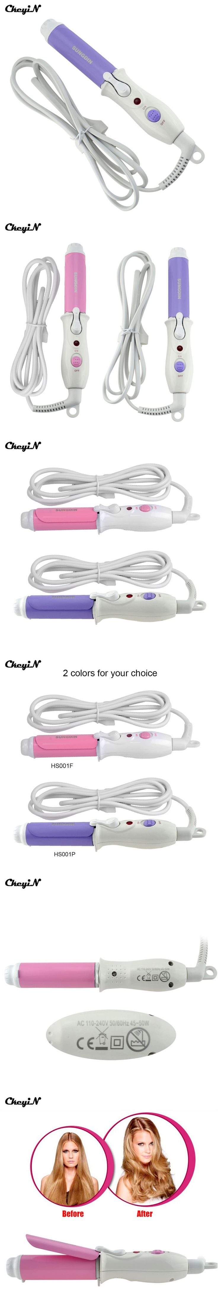 Portable Hair Curlers Rollers Electric Hair Styling Tool Mini Travel Curling Iron 100-240V Hair Styler Curls Girl's Wand Curler