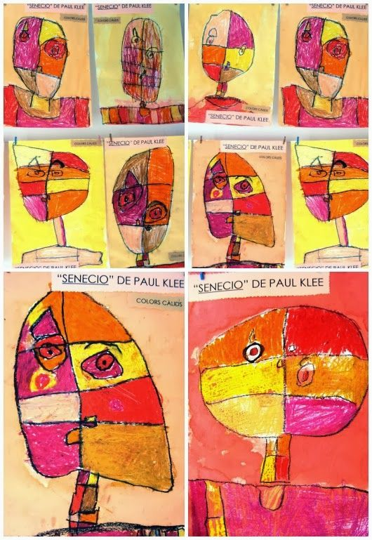 "Plastiquem: Educació Infantil. ""Senecio"" Paul Klee"