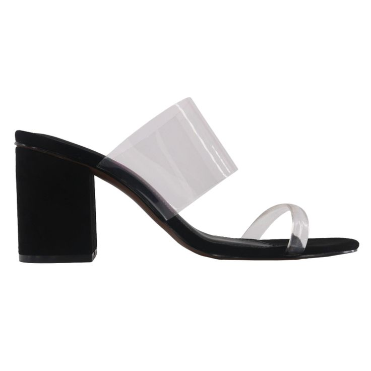 - This translucent block heel works with everything from jeans to dresses.