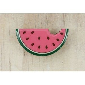 Fruity Watermelon Brooch (Painted)