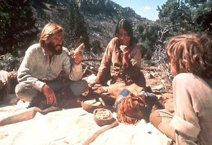 """Jeremiah Johnson (1972) Johnson meets up with a woman (Allyn McLerie) who is """"crazed"""" after a massacre and son, Caleb (Josh Albee) who is also affected choosing not to speak. The woman gives her son to Swan and Johnson."""
