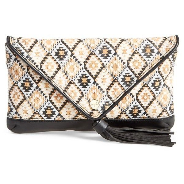 pretty ships 'Mumbai' Printed Clutch (86 AUD) ❤ liked on Polyvore featuring bags, handbags, clutches, taschen, white, white envelope clutch, envelope clutch bags, handbag purse, polka dot handbags and chain strap handbag