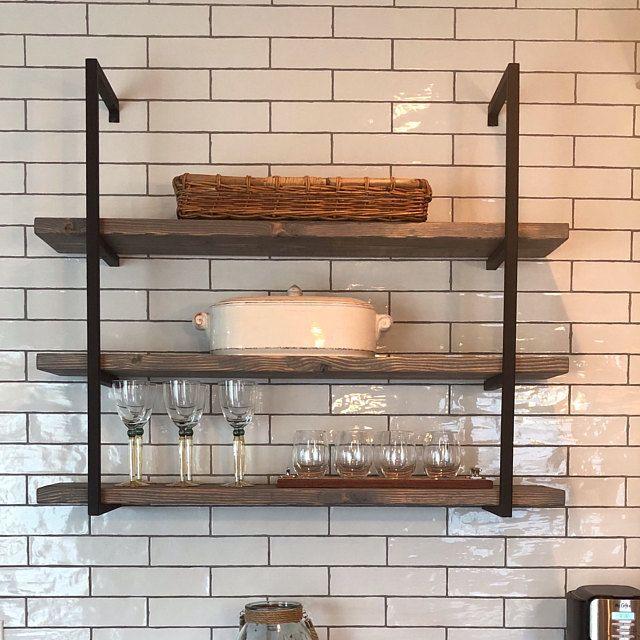 Framed Metal Floating Shelves 12 Spacing Steel Shelves Etsy In 2020 Metal Floating Shelves Floating Shelf Brackets Floating Shelves