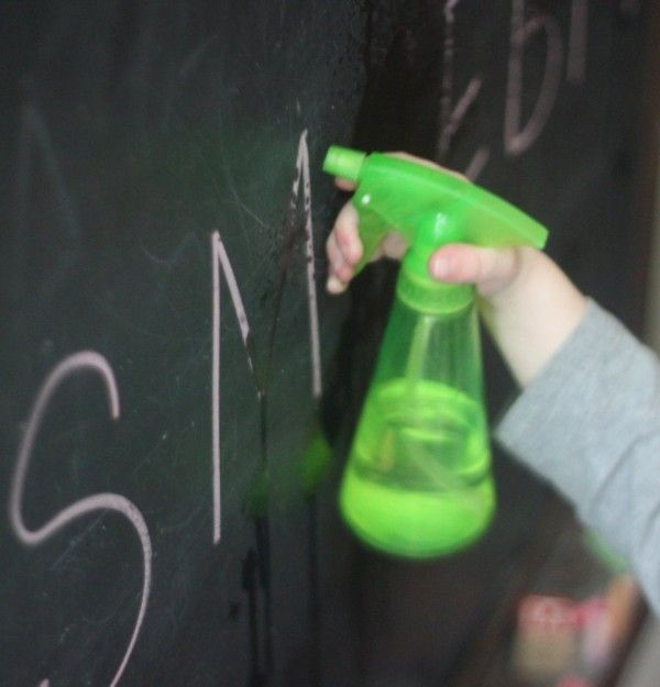 A fun way for toddlers to practice learning letters. Once they recognize and find the letter they can squirt it to make it disappear!