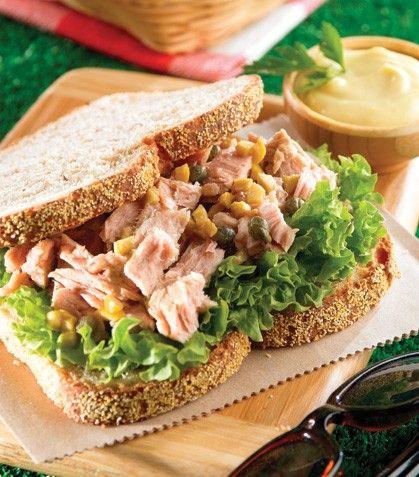 """¡Sencillos, prácticos y deliciosos! """"Sándwiches de atún"""""""