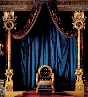 Napoleon throne voulu en 1805 par napol on ier la salle du tr ne - Salle du trone versailles ...