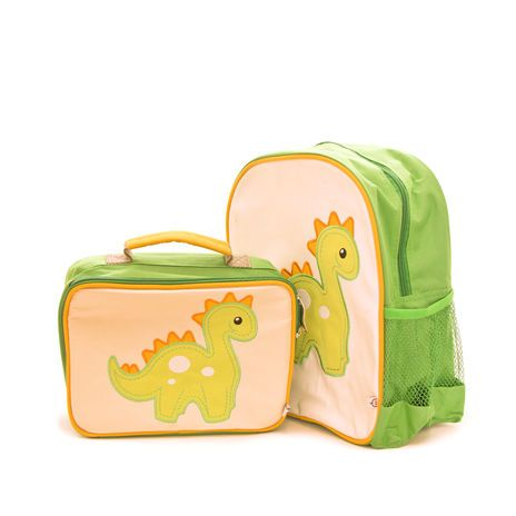OMG so cute! Woddlers Dino the Dinosaur Backpack & Lunchbox From Bizzy Bubs Australia http://www.bizzybubsaustralia.com/products/dino-the-dinosaur Great for #backtoschool