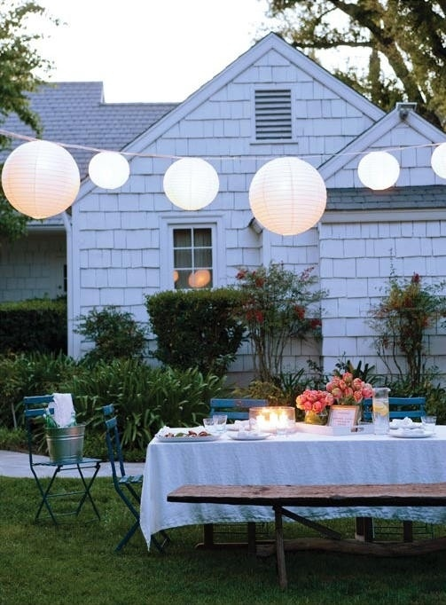 I would take a yard/deck party over going out any day :) this looks so quaint