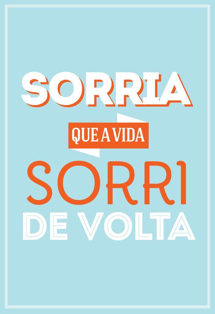 Poster Frase Sorria que a vida sorri de volta - Decor10