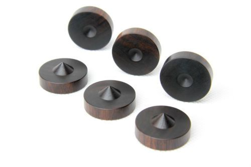 4pcs-23mm-0-9-034-Ebony-Speakers-Shock-Spikes-Stand-Foot-Isolation-Feet-Base-Pads