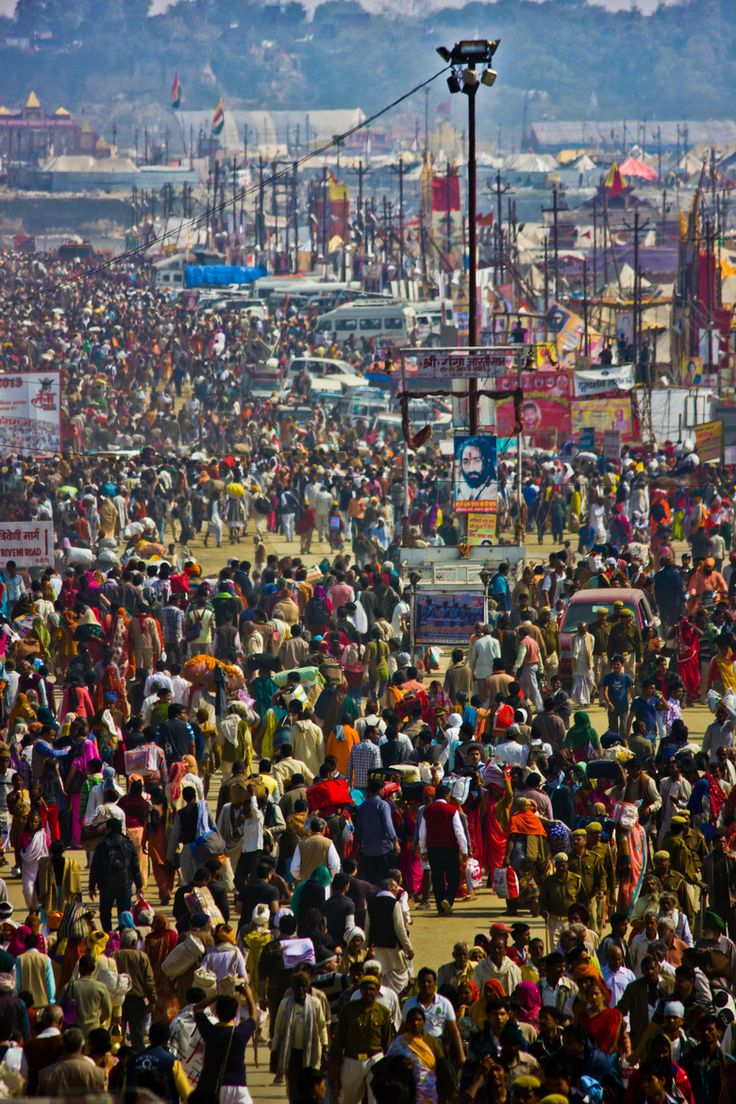 Over 100 million at 2013 Maha Kumbh Mela, Allahabad, India #seatsofthegoddess