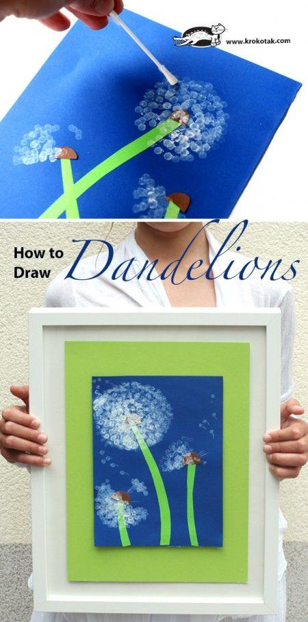 How to Draw Dandelions (krokotak)