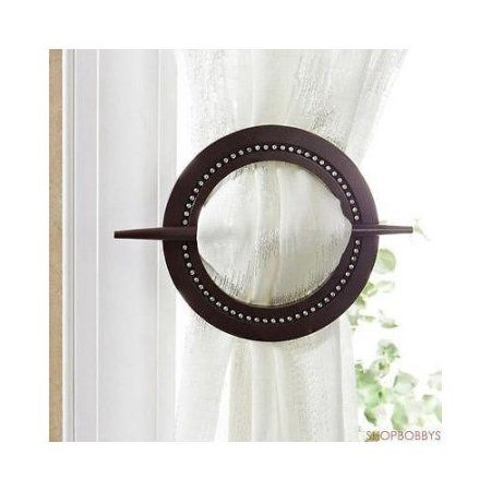 2-Piece Venice Curtain Tieback, Silver, Brown
