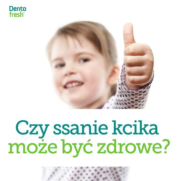 Nie ma najmniejszych wątpliwości, że ssanie kciuka u dziecka powoduje choroby związane ze złym ustwieniem uzębienia. Dlatego po pojawieniu się pierwszych ząbków należy zacząć eliminować te nawyki. #dentofresh #dobrarada