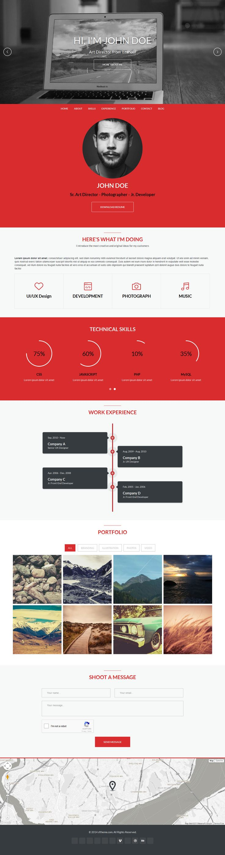 Like the timeline feature and layout. #red #gray #resume #portfolio