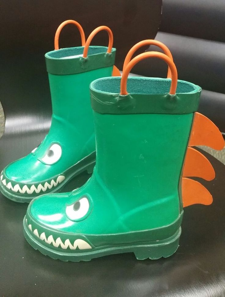 Boys Rain Boots M/M 7/8 Free Shipping #Boots
