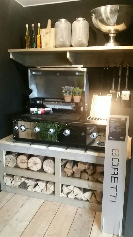 Boretti Fuori LIGORIO TOP | inbouw barbecue  Doe het zelf inbouw outdoorkitchen | buitenkeuken | gas | barbecue met verlichting en optie tot draaispit | Davinci Top | Infrarood branders