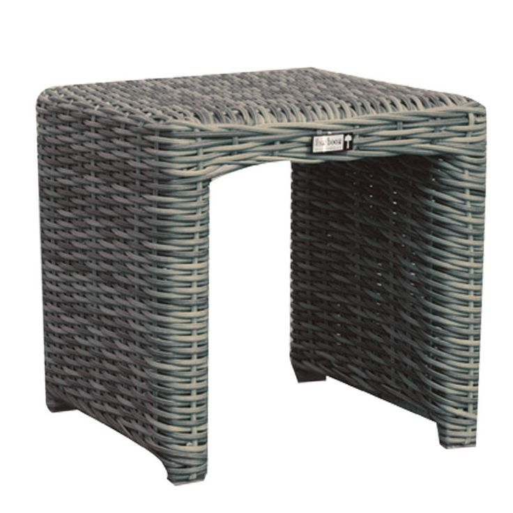 Montana garden coffee table aluminum wicker grey brown 40x40x40