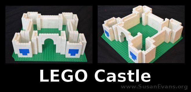 How to make a LEGO castle out of regular LEGOs - http://susanevans.org/blog/lego-castle/