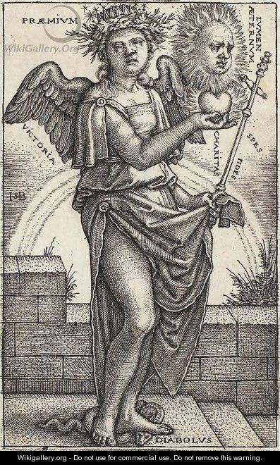 Allegory of Christianity - Hans Sebald Beham - WikiGallery.org, the ...