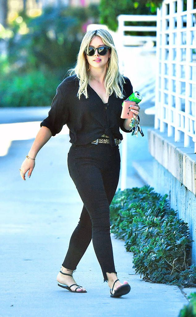 Hilary Duff from The Big Picture: Today's Hot Photos  Back in black! The star is spotted out and about in Studio City.
