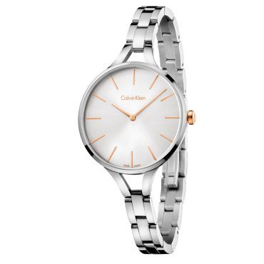 K7E23B46 Γυναικείο ελβετικό ρολόι CALVIN KLEIN Graphic με ατσάλινο μπρασελέ και ασημί καντράν | Ρολόγια CK ΤΣΑΛΔΑΡΗΣ στο Χαλάνδρι #Calvin #Klein #graphic #ασημι #μπρασελε #ρολοι