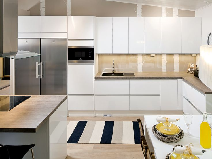 Topi-keittiöt - Hohto valkoinen keittio 2 iso