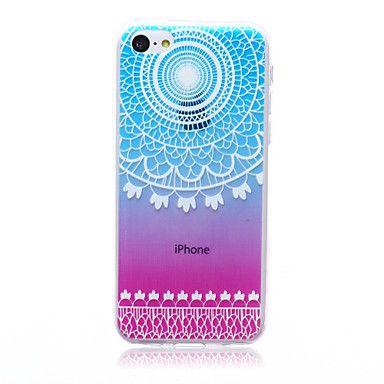 kleurrijke+kant+patroon+TPU+soft+Cover+Case+voor+iPhone+5c+–+EUR+€+2.93