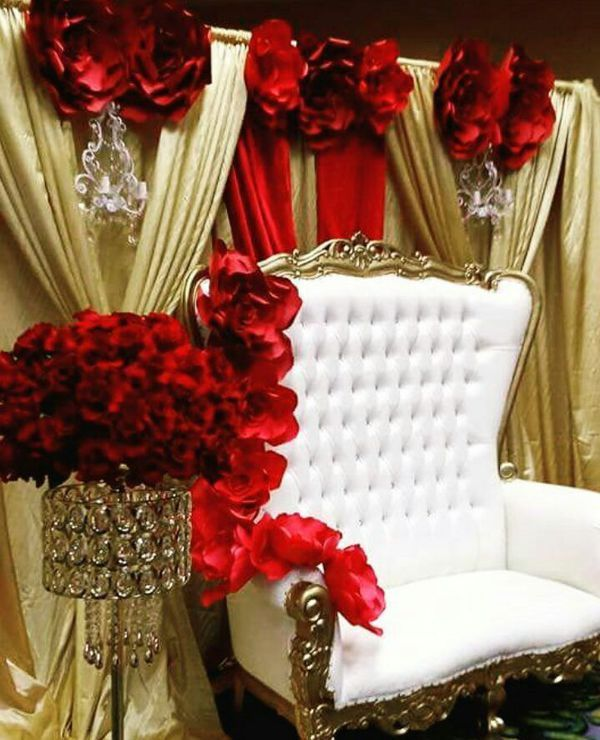 Throne Chair Rental King Queen Rent Me For Your Event Inland Empire Ca For Sale In Fontana Ca Of Red Gold Wedding Quinceanera Decorations Quince Decorations
