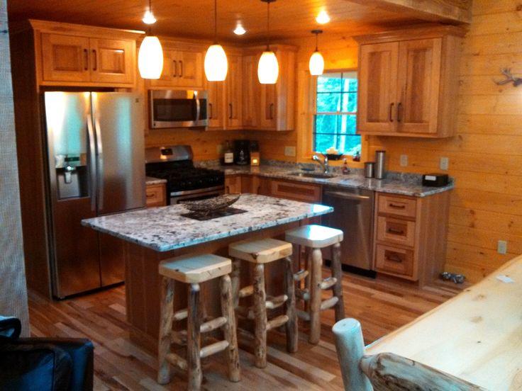 Rustic Hickory Cabinets U0026 Granite Counters, Nesteru0027s Kitchen U0026 Bath,  Intervale, New Hampshire